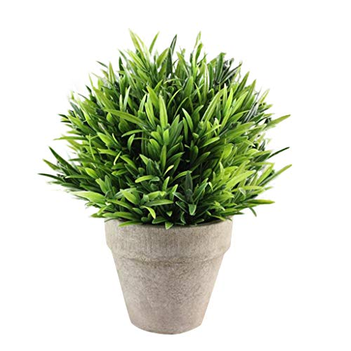 CHUNKUNA Artificial Plants Fake Flower in Pot, Small Artificial Plants for Office Home Garden Green Decor (D) from CHUNKUNA