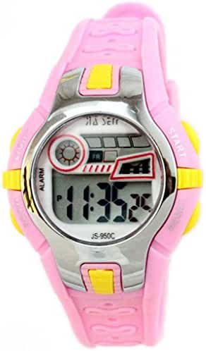 Boys Girls Outdoor Digital Quartz Waterproof Jelly Colorful Sports Watches For 7-15 Years Old Pink
