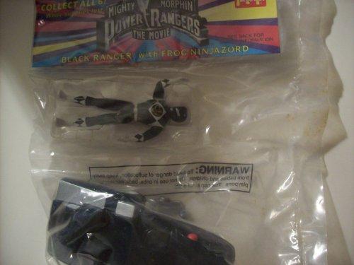Mighty Morphin Power Rangers the Movie Black Ranger with Frog Ninja Zord (Mcdonalds Happy Meal Toy) (Power Rangers Mighty Morphin Zords)