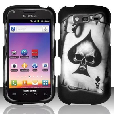 Bundle Accessory for T-mobil Samsung Galaxy S Blaze 4g T769 - Spade Skull Designer Hard Case Protector Cover + Lf Stylus Pen (Cell Phones Samsung T Mobil)