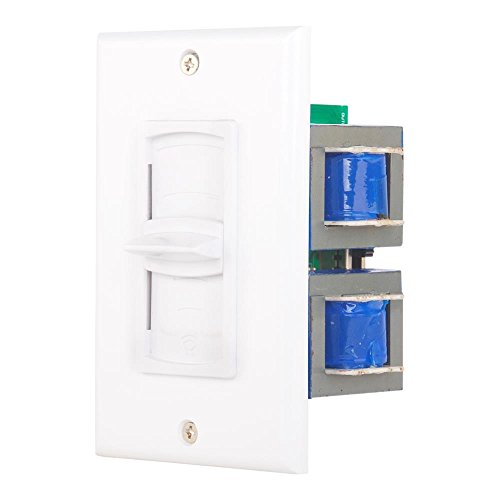 In Wall Speaker Volume Control - Home Audio Smart Speakers Stereo Controller Selector Switch Pod Box - In-Wall Vertical Sliding Control, For Home Theater Indoor or Outdoor Remote Speakers - Pyle PVC2