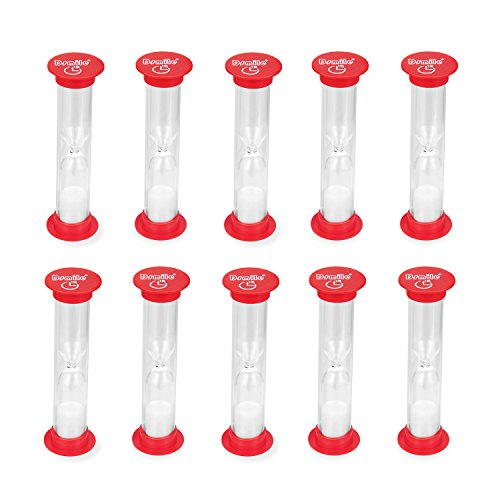 Dsmile Sand Timer, 1 Minute Plastic Hourglass Timer Set of 10 (Plastic Timer)