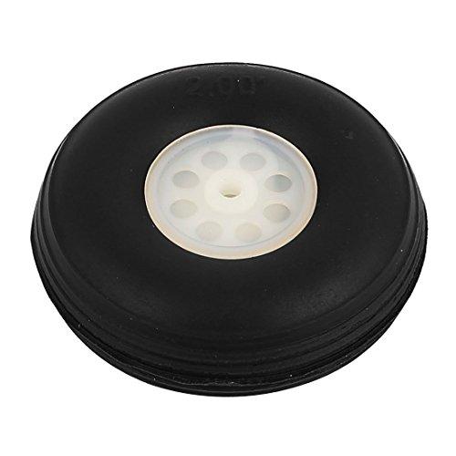 Amazon.com : eDealMax 3 mm de Agujeros Plano del rc de la PU de la cola de goma del neumático de la rueda tamaño métrico D50 H20 : Baby