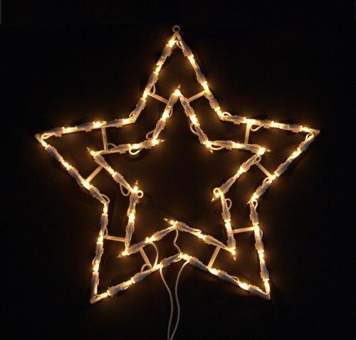 Fensterbeleuchtung Weihnachten Led.Fensterbild Beleuchtet 41cm Mit 50 Led Motiv Stern Mit Saugnapf