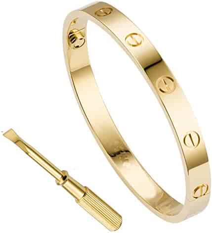 0dd88cd14f4 QUEEN JULIA Bracelets for Women Love Bracelet Bangle for Couples Buckle  Pulseras de Mujer Titanium Steel