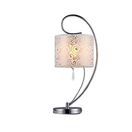 Whse of Tiffany TL1072 Swirl Crystal Table (Swirl Metal Lamp Table)