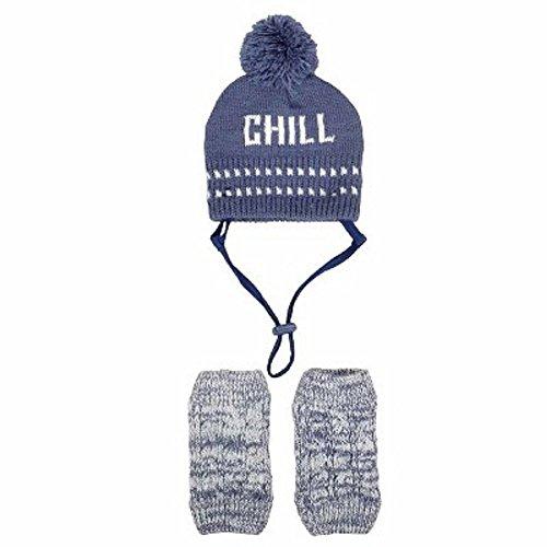 Blue Chill Hat set dog Costume Winter Hat
