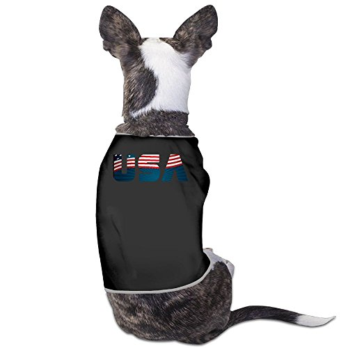 U S A American New Fashion CutePet Shirt Dress Plain Sleeveless New Fashion Cute Best Holiday Gift L Black