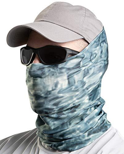 Aqua Design Fishing Sun Mask Camo Multipurpose Face Wind Sun Protection Head Tube Sizes Youth to Adult XL Fishing Hunting Gaiter,Misty Sky,Large