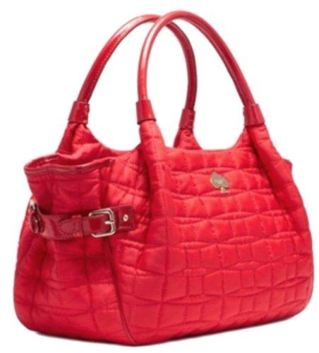 Amazon.com: Kate Spade Quilted Nylon Signature Spade Stevie ... : kate spade red quilted bag - Adamdwight.com
