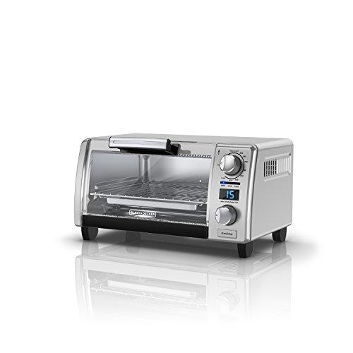 BLACK+DECKER 4-Slice Natural Convection Digital Toaster Oven, Stainless Steel, TOD1770G (Digital Natural)