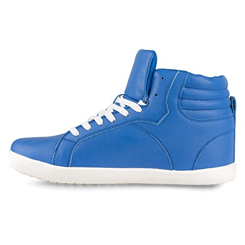 Invloed Heren Rick High-top Fashion Sneakers Kobalt
