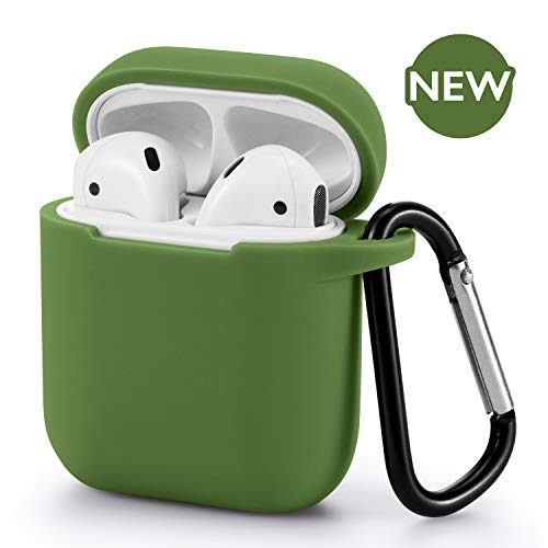 AirPods Case - BLUEWIND AirPod Case Silicone Cover 2019 Newest 360° Protective Cases Compatiable with Apple AirPods 2nd/1st (Grass Green)