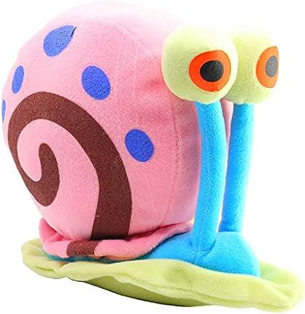 Producto original SpongeBob,Peluche Gary, el caracol, amigo de Bob Esponja,Esta oferta incluye 1 pel