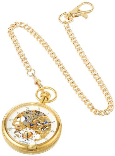 Charles-Hubert, Paris Gold-Plated Open Face Mechanical Pocket Watch by Charles-Hubert, Paris