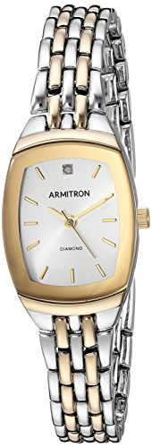 Armitron Women's 75/5195SVTT Diamond Accented Dial Two-Tone Bracelet Watch