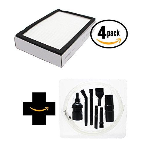 4-Pack de remplacement Kenmore 86680Aspirateur Filtre Hepa avec 7pièces Micro sous vide kit de fixation–Compatible Kenmore 86880, Kc38kbrmz000, Ef-2filtre HEPA