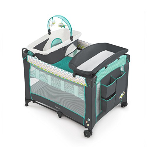 Ingenuity Smart and Simple Packable Portable Playard with Changing Table – Ridgedale