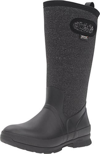 Bogs Women's Crandall Tall Snow Boot, Black/Multi, 9 M US by Bogs