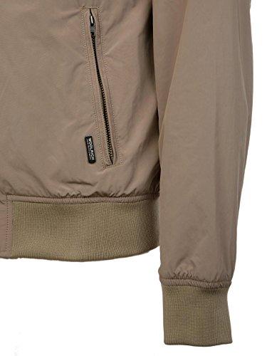 Wocps26408691 Poliestere Uomo Giacca Woolrich Beige Outerwear twCqBU6x
