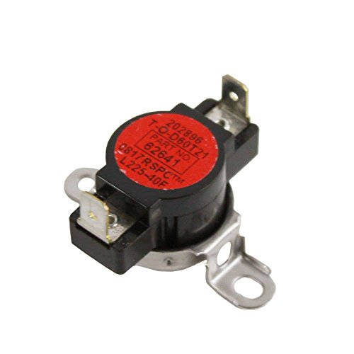 Amana Whirlpool W10116735 Dryer High-Limit Thermostat Genuine Original Equipment Manufacturer (OEM) part for Maytag, Crosley, Admiral, Magic (Amana Clothes Dryer Thermostat)