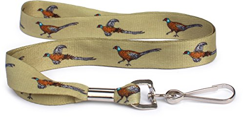 Men's Indoor / Outdoor Sporting Themed Lanyards - Neck Lanyard for Key or Badge ID Holder (pheasant)