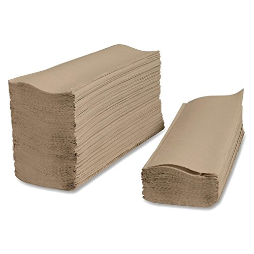 SafePro SFTB, Brown Single-Fold Interfolded Napkins, Disposable Hand Towels Napkins, 4000-Piece Case (Dispenser is Sold Separately)