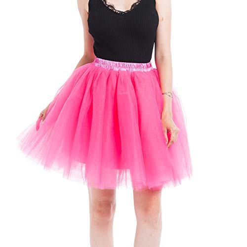 Adulte Diizii 50 Rose Vintage En Courte Couches Ballet Année Elastique Rockabilly Tulle Jupe Femme Style Rétro Tutu Rouge Petticoat Multi OOqAr6Ewf