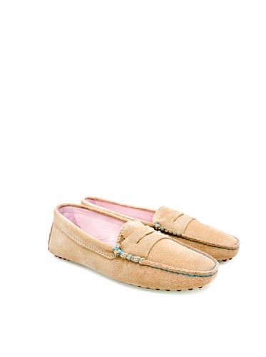 Bobbies La Parisienne Damen Loafer Mokassin Veloursleder Sand Sand