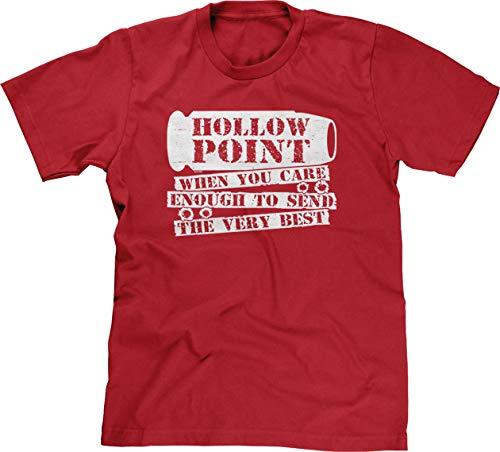 Hollow Point Handgun - Blittzen Mens Hollow Point When You Care Enough, 2XL, Red