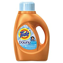 Tide 87458 Touch of Downy Liquid Laundry Detergent, Clean Breeze, 46 oz. Bottle (Pack of 6)