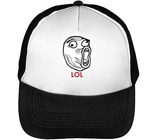 Snapback Gorras Lol Blanco Hombre Beisbol Meme Negro f7UtqUHx