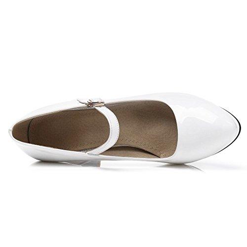Shoes Heels Heels Women White Toe TAOFFEN Party Closed qwgRUWFX