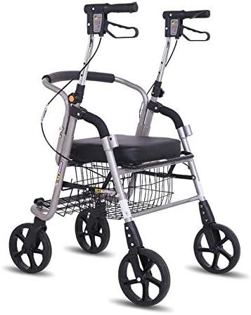 ZSMPY Laufkatze des Alten Mannes, gehendes Auto, vierrädriger Alter Einkaufswagen, Einkaufswagen, Roller, Gehhilfe, sitzend