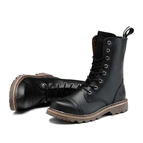 Scarpe casual maschile vestito alpinismo [autunno e inverno] all'aperto [fondo morbido] stivali slip on marrone-nero-nero Lunghezza piede=39EU