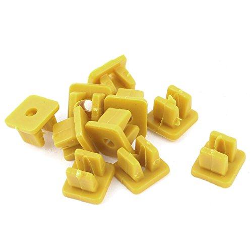 uxcell a14112200ux0029 Plastic Rivets Fastener Bumper Push Clips Car 9x8mm Hole 10pcs Yellow, 10 Pack ()