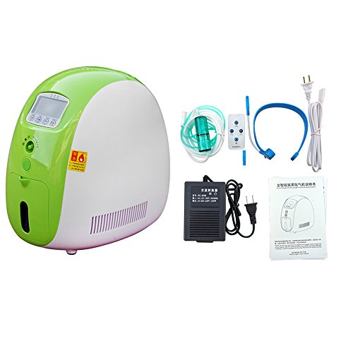 ECO LLC Air Purifier 1-5L/min Full Smart Home Oxygen Concentrator Machine with Transformer for Home(Without Battery)