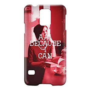 Loud Universe Samsung Galaxy S5 I Am Because I Can Print 3D Wrap Around Case - Red/White