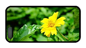 Cool retro iphone 5 cases A yellow wildflower close up TPU Black for Apple iPhone 5/5S