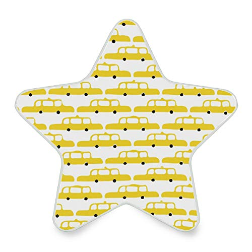 New York City NYC Taxis Plug-in LED Night Light with Dusk-to-Dawn Sensor Star Shape Lamp