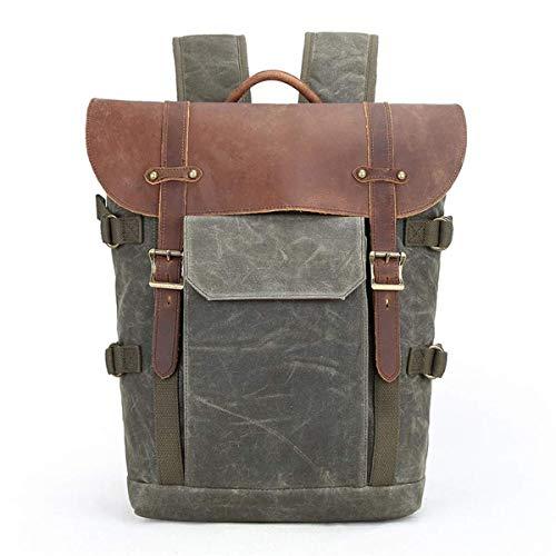 Yangmani.Outdoor Backpack DSLR Camera Backpack,Shockproof Waterproof Photography Casual Travel Bag Batik Canvas + Crazy…