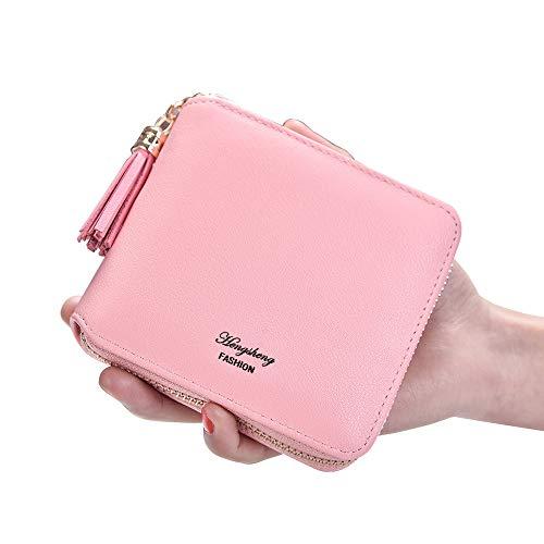 Lovely léger Pink et Coin Color Pendentif Pure Lady Pink Slim rabbit Mince Little Zero Pompon Wallet X6q4Xr