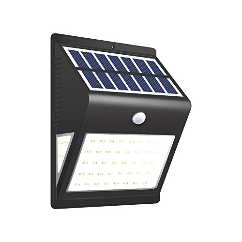 Led Single Classic Outdoor - BULEKEM Solar Lights Outdoor,Wireless 46 LED Motion Sensor Solar Lights with Wide Lighting Area,Easy Install Waterproof Security Lights for Front Door,Back Yard,Driveway,Garage,Patio,etc...