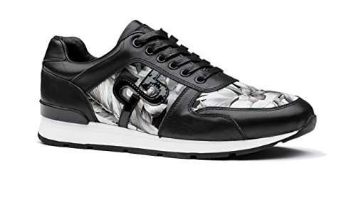 OPP Men Leather MultiSport Trainers Sneakers Black-1 7sgfuE1