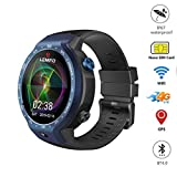 VICCKI LEMFO LEM9 Dual 4G Android 7.1 1.39 Inch 454X454 Display 5MP 600mAh Smartwatch (Blue, One Size)
