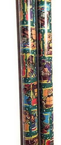 Teenage Mutant Ninja Turtles Christmas Wrap Paper (2 Rolls) (Teenage Mutant Ninja Turtles)