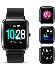 GOKOO Montre Connectée Femmes Homme Smartwatch Sport IP68 Bracelet Connecté Podomètre Cardio Chronomètres Fitness Tracker d'Activité Smart Watch Étanche Tactile Montre Intelligente pour Android iOS