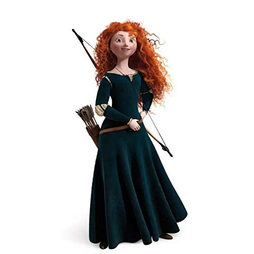 Blue Bird Brave Merida Princess Dress Costume Adult Women's Halloween Carnival Cosplay Costume ()