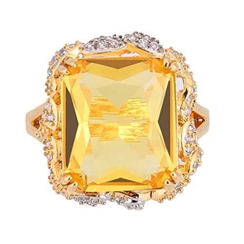 [해외]Gold Plated Full Diamond Inlaid Ring for Women Girl Personalized Gorgeous Microinlaid Zirconia Ring Jewelry Gift / Gold Plated Full Diamond Inlaid Ring for Women Girl Personalized Gorgeous Microinlaid Zirconia Ring Jewelry Gift