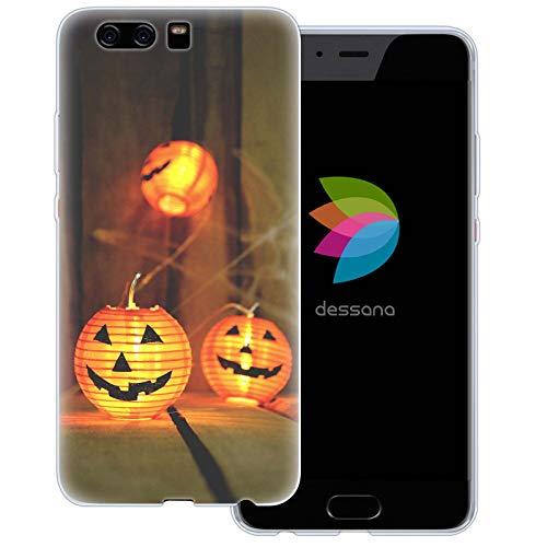 dessana Halloween Transparent Protective Case Phone Cover for Huawei P10 Plus Pumpkin lampion ()